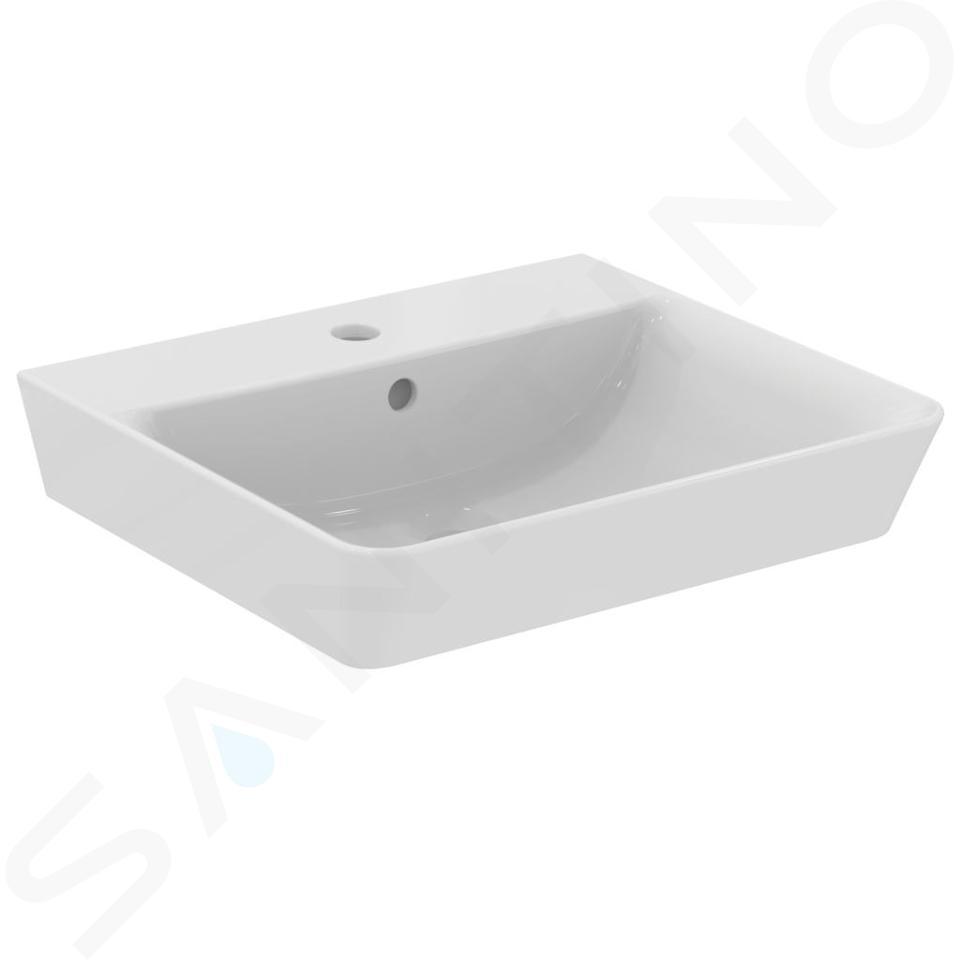 Ideal Standard Connect Air - Wastafel Cube 500x450x160 mm, 1 kraangat, wit E030101
