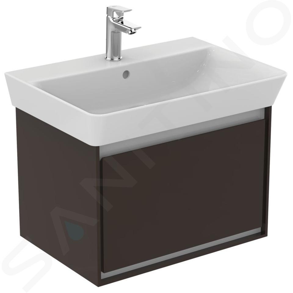 Ideal Standard Connect Air - Lavabo Cube , 650x460x160 mm, avec un trou pour mitigeur, blanc E029701