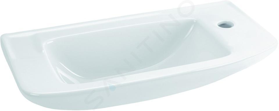 Ideal Standard Eurovit - Lave-mains 500x235x125 mm, un trou pour mitigeur, blanc R421901