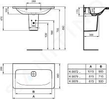Ideal Standard Tonic II - Meubelwastafel 615x490x170 mm, wit K087801