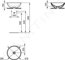 Ideal Standard Strada - Rond wastafel, diameter 410 mm, wit K079501