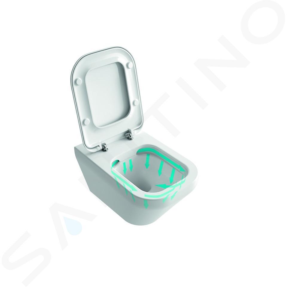 Ideal Standard Tonic II - Wand-WC, 355x560x350 mm, Rimless, mit Ideal Plus, weiß K3163MA
