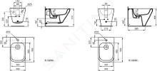 Ideal Standard Tonic II - Wandbidet 355x560x350 mm, wit K523601