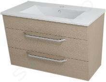 Sapho Kali - Umyvadlová skříňka 740x500x460 mm, dub benátský 56078
