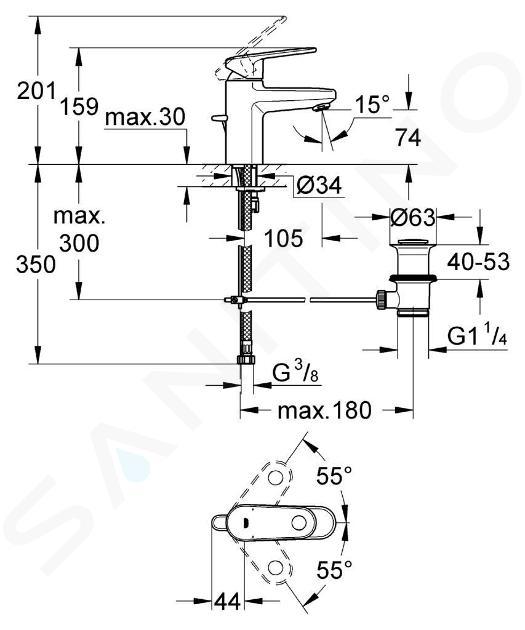 Grohe Europlus - Miscelatore monocomando per lavabo, cromato 3261200E