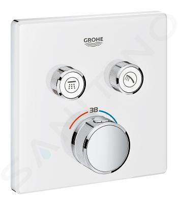Grohe Grohtherm SmartControl - Mitigeur thermostatique encastré de baignoire à 2 sorties, blanc lunaire 29156LS0
