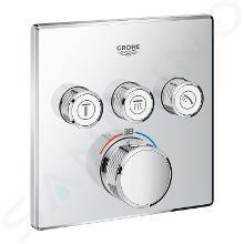 Grohe Grohtherm SmartControl - Mitigeur thermostatique encastré de baignoire pour 3 sorties, chrome 29126000