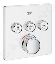 Grohe Grohtherm SmartControl - Miscelatore termostatico a tre vie ad incasso per vasca da bagno, bianco luna 29157LS0