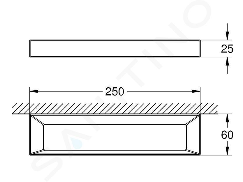 Grohe Selection Cube - Držák na ručníky, chrom 40766000