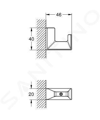 Grohe Selection Cube - Háček na koupací plášť, chrom 40782000