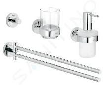 Grohe Essentials - Badaccessoires-Set 4 in 1, verchromt 40846001