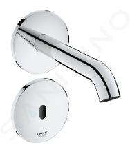 Grohe Essence E - Rubinetto elettronico ad infrarossi non miscelatore per lavabo, montaggio a parete, cromo 36447000