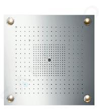 Axor ShowerCollection - ShowerHeaven 720 x 720 mm, nerezová ocel 10627800
