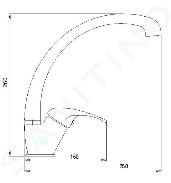 Novaservis Metalia 57 - Keukenkraan, chroom 57014,0