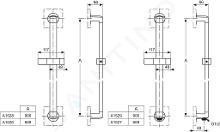 Ideal Standard Archimodule - Predlžovacia súprava na sprchovú tyč (horné upevnenie), chróm A860823AA