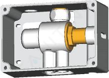 Ideal Standard CeraPlus - Termostatický připojovací box pro směšování teploty (univerzální použitelný se všemi sensorovými bateriemi), neutrální A3813NU