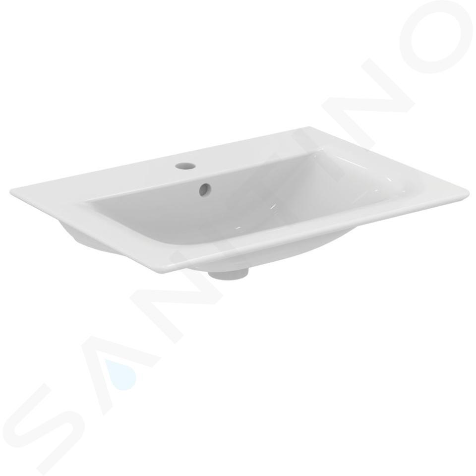 Ideal Standard Connect Air - Lavabo ad incasso 640x460x165 mm, con 1 foro per miscelatore, bianco E028901