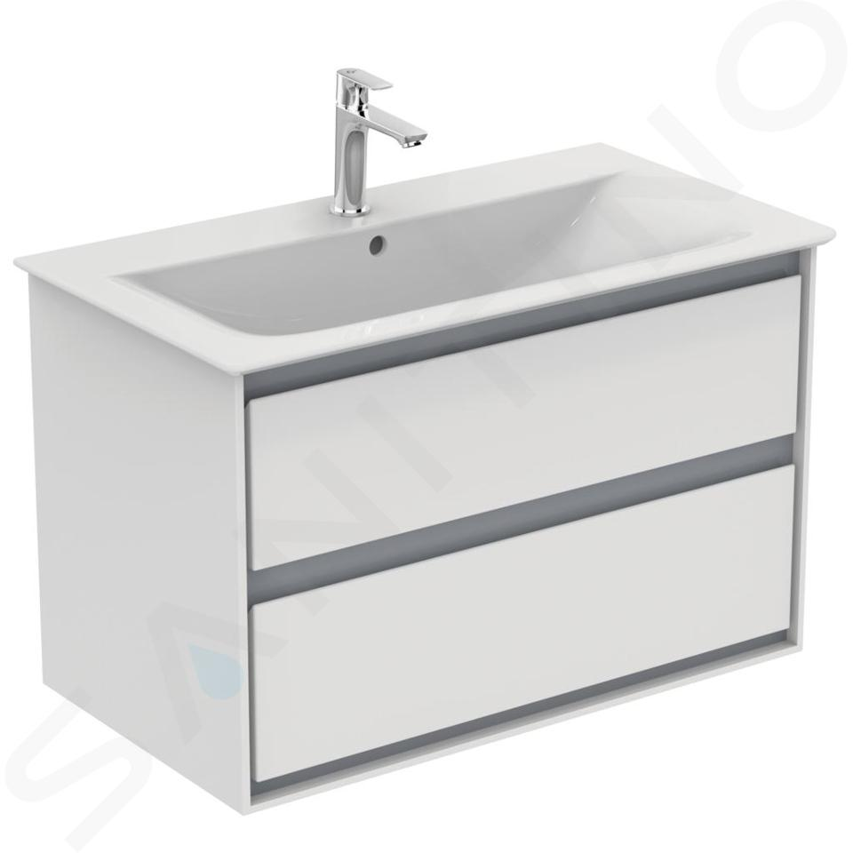 Ideal Standard Connect Air - Möbelwaschtisch 840x460x165 mm, mit 1 Hahnloch, weiß E027901