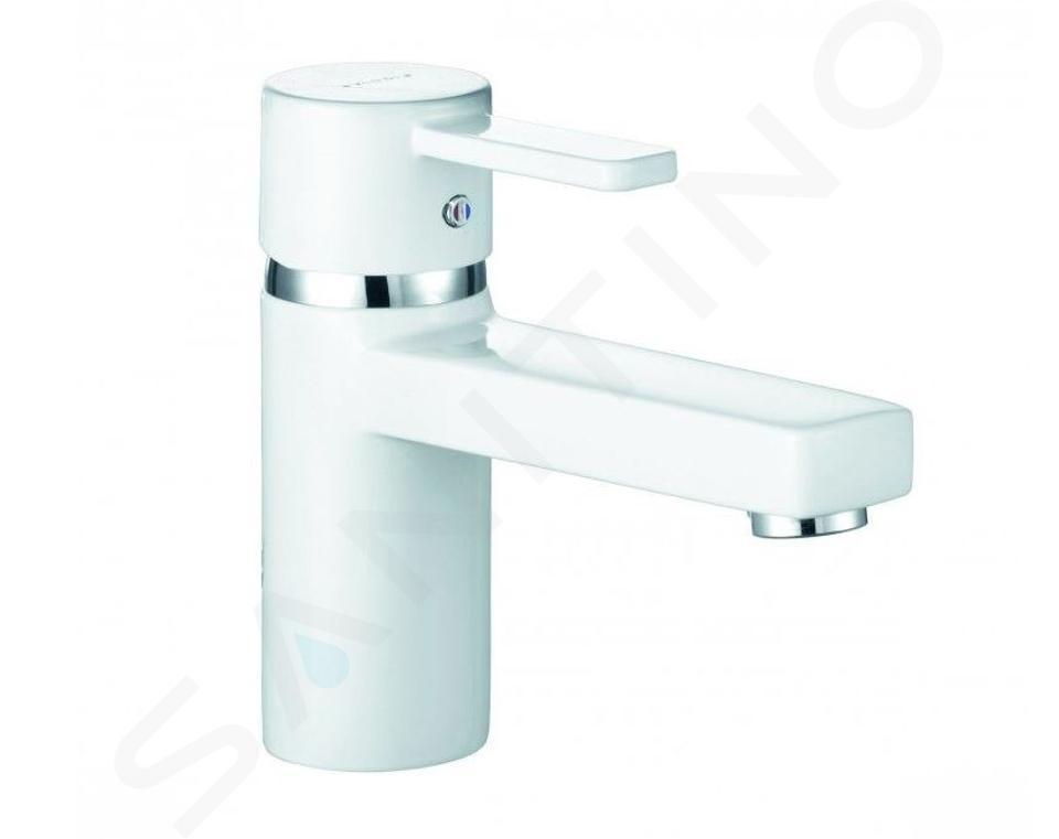 Kludi Zenta - Mitigeur de lavabo, blanc/ chrome 382519175