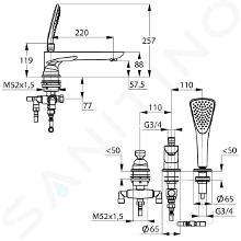 Kludi Balance - 3-gats badrandcombinatie, chroom 524470575