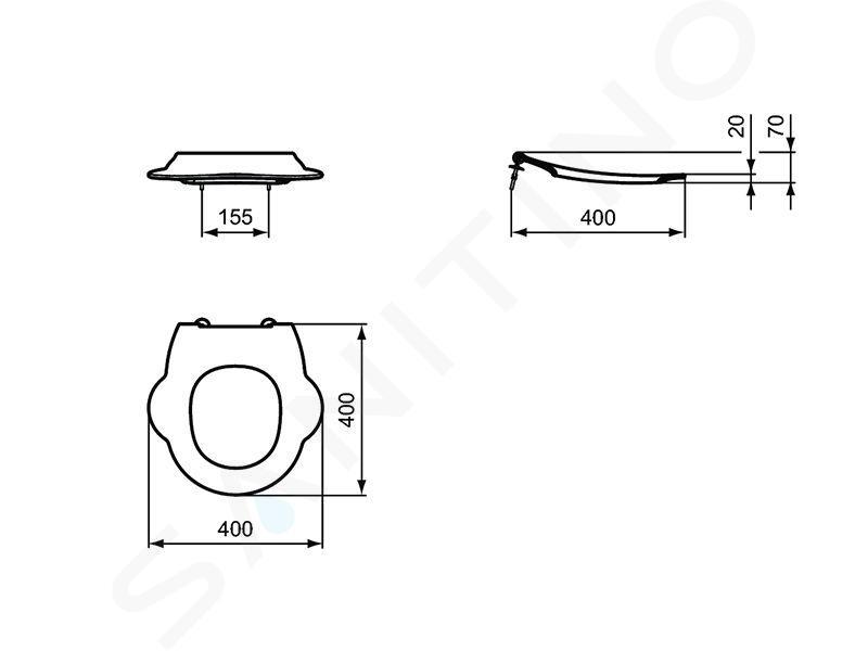 Ideal Standard Contour 21 - WC-Sitz für Kinder ohne Deckel, rot S4542GQ