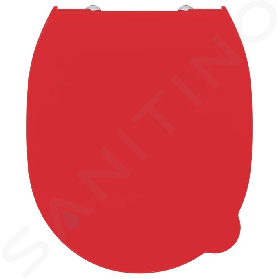Ideal Standard Contour 21 - Abattant de WC enfant, rouge S4536GQ