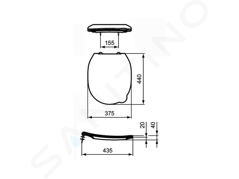 Ideal Standard Contour 21 - WC-Sitz für Kinder, blau S453636