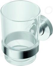 Ideal Standard IOM - Zahnbürstenbecher mit Halter, glas /chrom A9121AA