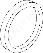 Ideal Standard Unterputzbestandteile - Distanzrahmen mit Rosette, rund, für Wannenarmaturen, Durchmesser 163 mm, verchromt A962464AA