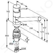Kludi Scope - Keukenkraan,voor montage onder een raam, chroom 339380575