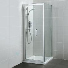 Ideal Standard Synergy - Boční stěna 800 mm, lesklý stříbrná/čiré sklo L6400EO