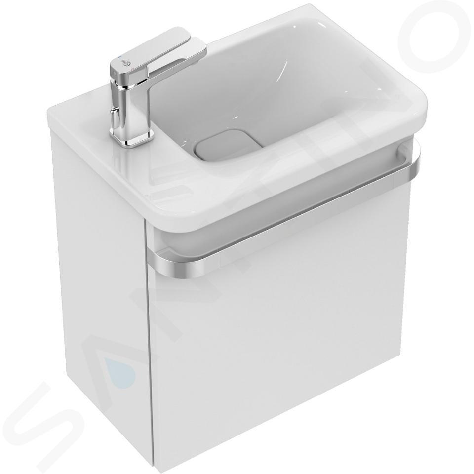 Ideal Standard Tonic II - Möbel-Handwaschbecken 460x310x145 mm, mit 1 Hahnloch links, weiß K086601