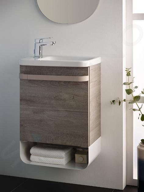 Ideal Standard Tonic II - Möbel-Handwaschbecken 460x310x145 mm, 1 mit Hahnloch links, mit Ideal Plus, weiß K0866MA