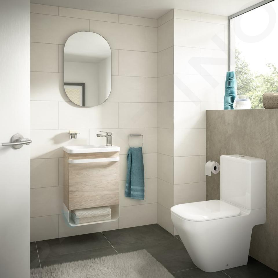 Ideal Standard Tonic II - Fontein 460x310x145 mm, 1 kraangat rechts, met Ideal Plus, wit K0867MA