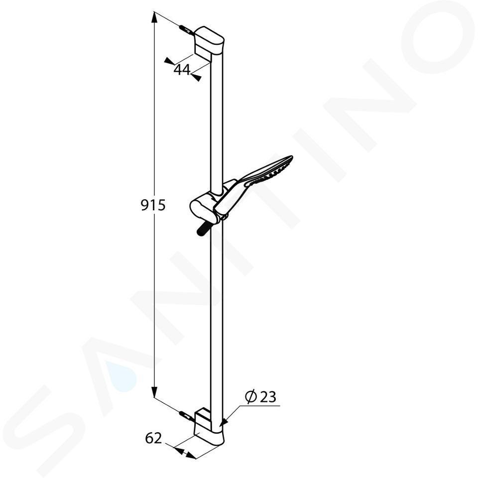 Kludi Fizz - Duschkopfset mit Schlauch und Stange 900 mm, chrom 6764005-00