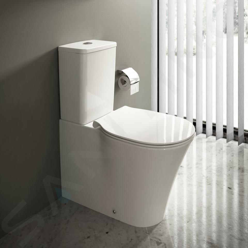 Ideal Standard Connect Air - Stand-WC-Kombination, Abgang senkrecht / waagerecht, AquaBlade, weiß E013701
