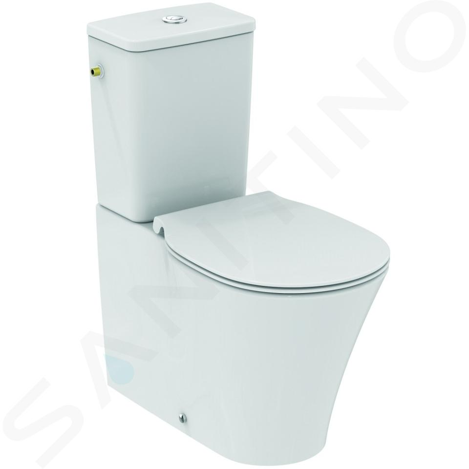 Ideal Standard Connect Air - Stand-WC-Kombination, Abgang senkrecht / waagerecht, AquaBlade, Ideal Plus, weiß E0137MA