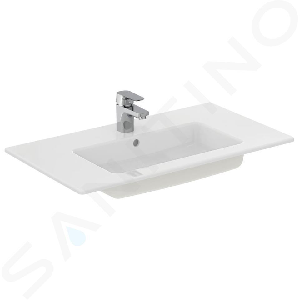 Ideal Standard Tempo - Lavabo à encastrer 815x450x140 mm, un trou pour mitigeur, blanc E066901
