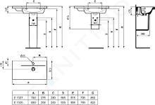 Ideal Standard Connect Space - Lavabo 600x380x175 mm, con 1 foro per miscelatore, bianco E132501