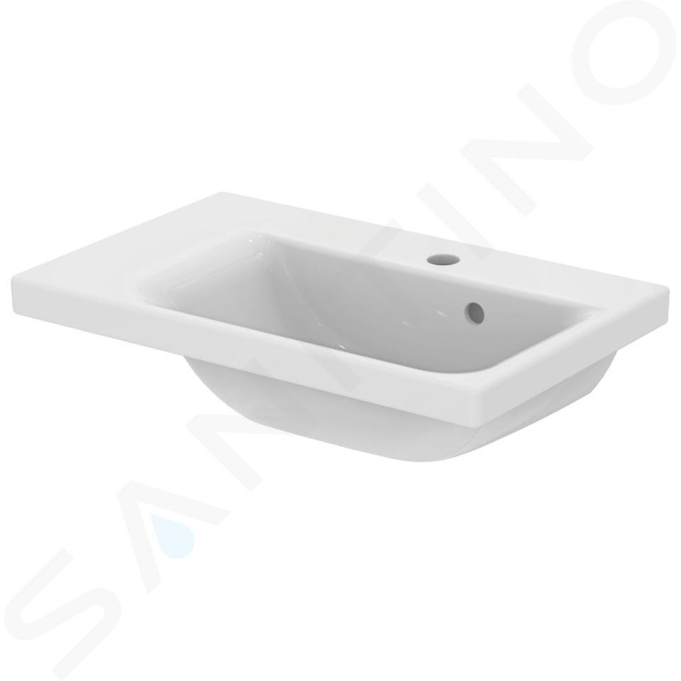 Ideal Standard Connect Space - Lavabo 600x380x175 mm, avec 1 trou pour robinet, avec Ideal Plus, blanc E1325MA