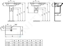 Ideal Standard Connect Space - Lavabo 600x380x175 mm, con 1 foro per miscelatore, bianco E132601