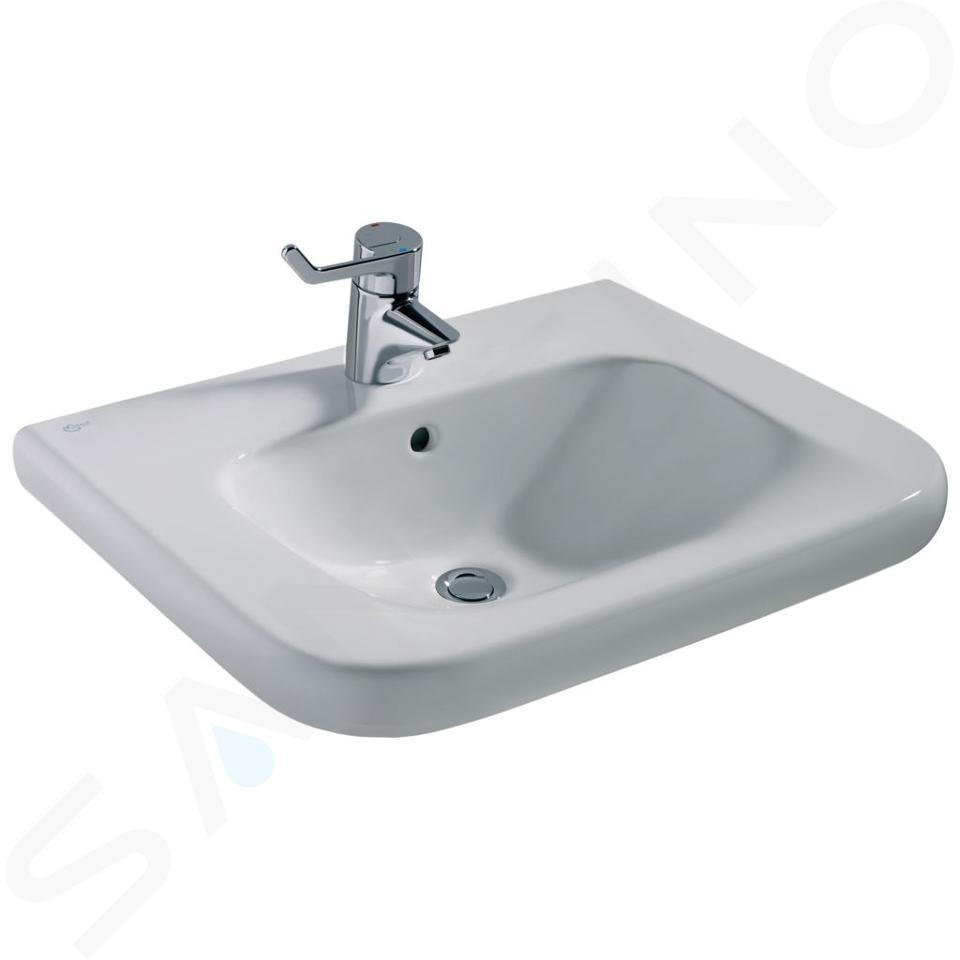 Ideal Standard Contour 21 - Wastafel voor gehandicapten 600x175x555 mm, met 1 kraangat, wit S238901