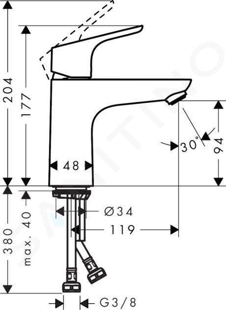 Hansgrohe Focus E2 - Miscelatore monocomando 100 per lavabo, cromato 31517000