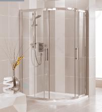Ideal Standard Synergy - Sprchový kout čtvrtkruhový 900x900 mm, lesklá stříbrná/čiré sklo L6383EO