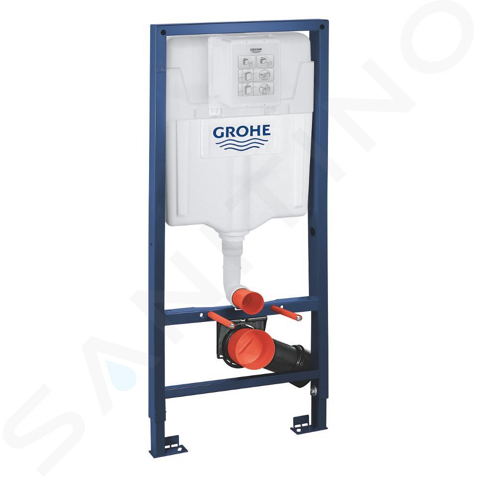 Grohe Rapid SL - Set per WC sospesi + vaso e copriwater Ideal Standard Quarzo 38528SET-KR