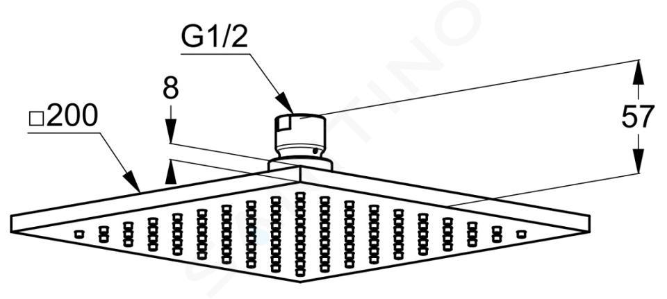 Kludi A-Qa - Kopfbrause 400x400 mm, chrom 6444005-00