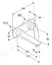 Kludi Balance - Miscelatore monocomando a 2 fori ad incasso per lavabo, cromato 522460575