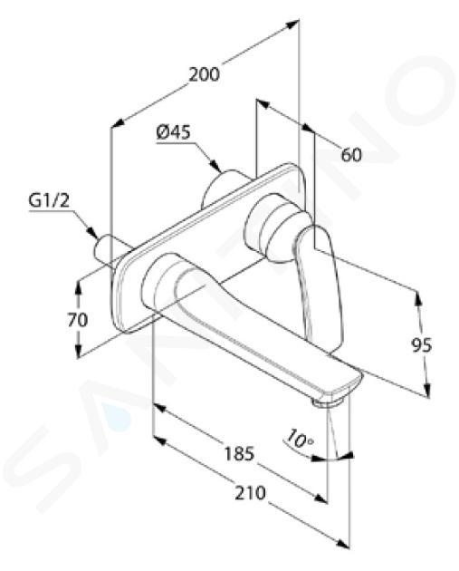 Kludi Balance - Waschtisch Einhebelmischer - Unterputz, 2-Loch Montage, chrom 522460575