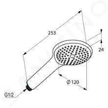 Kludi Freshline - Duschkopf 120 mm, chrom 6780005-00