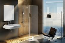Ravak Walk-In - Sprchovací kút Corner, 1100 mmx2000 mm, farba lesklý hliník, sklo transparent GW1CD4C00Z1